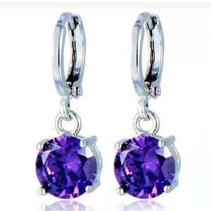Jewelry - Purple CZ earrings